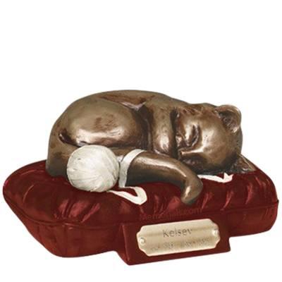 Feline Dreams Red Cremation Urn