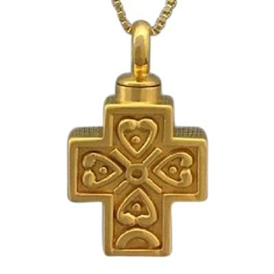 Filigree Cross Cremation Necklace II