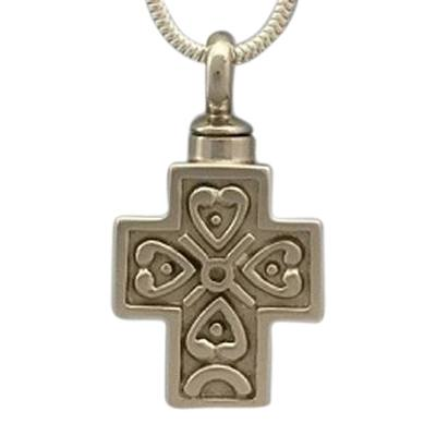 Filigree Cross Cremation Necklace