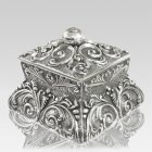 Filigree Silver Cremation Urn