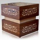 Filigree Wood Cremation Urn