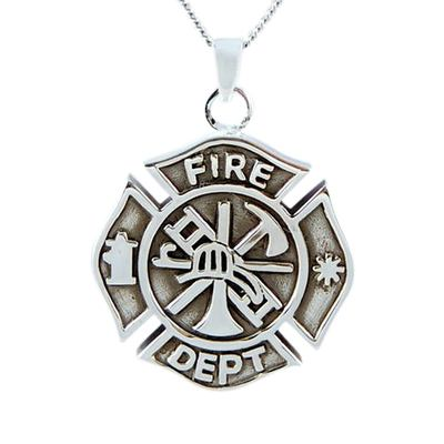 Fire Department Keepsake Pendant