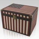 Flag Chest Cremation Urns