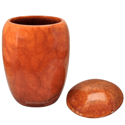 Flaming Stone Cremation Urn