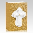 Floral Cross Biodegradable Urn