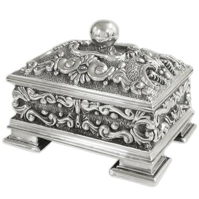 Florid Silver Cremation Urn