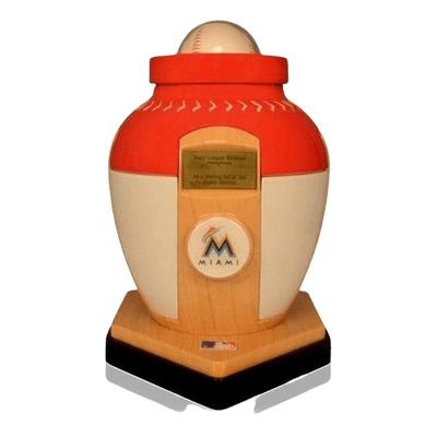 Miami Marlins Baseball Cremation Urn
