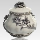 Flower Pewter Keepsake Cremation Urn