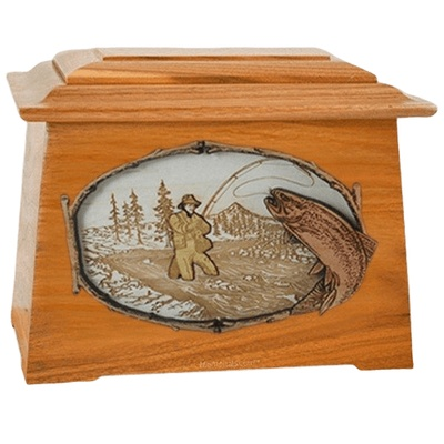 Fly Fishing Mahogany Aristocrat Cremation Urn