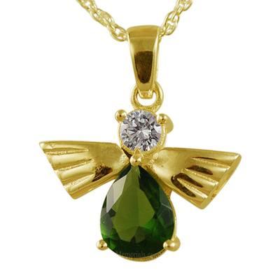 Flying Angel Emerald Cremation Pendant II