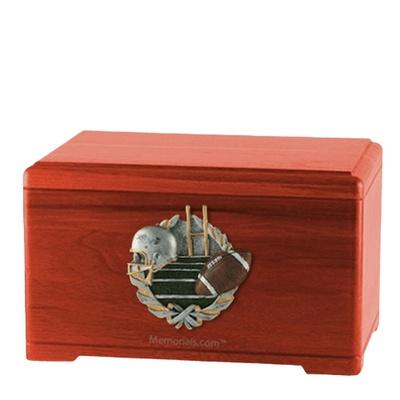 Football Fan Cherry Cremation Urn