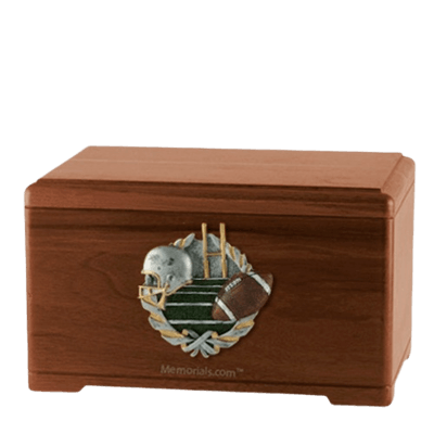 Football Fan Walnut Cremation Urn