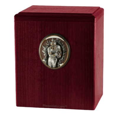 Football Player Rosewood Cremation Urn