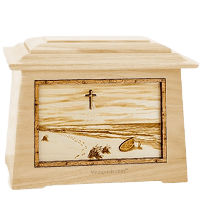 Footprints Maple Aristocrat Cremation Urn