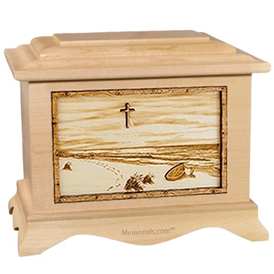 Footprints Maple Cremation Urn