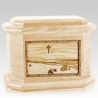Footprints Maple Octagon Cremation Urn