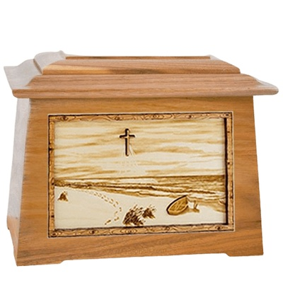 Footprints Oak Aristocrat Cremation Urn