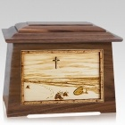 Footprints Walnut Aristocrat Cremation Urn