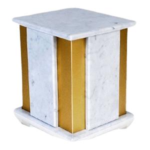 Foresta Bianco Marble Cremation Urn