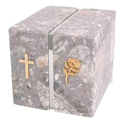 Foresta Grey Stone Silver Marble Companion Urn