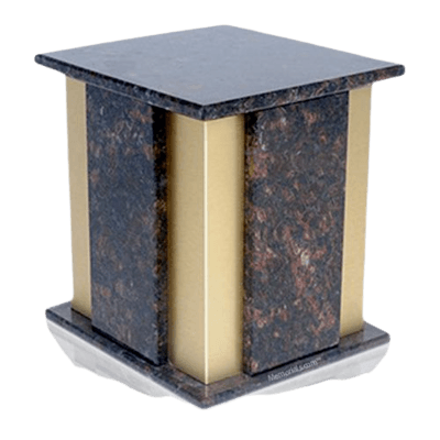 Foresta Tan Brown Granite Cremation Urn