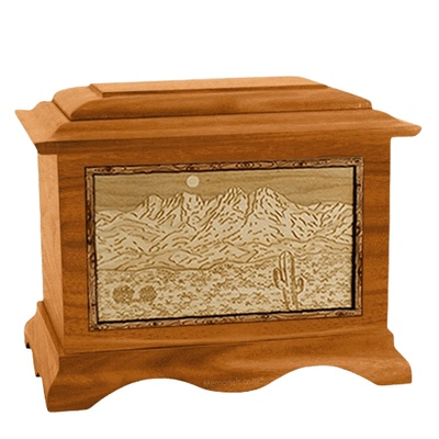 Four Peaks Mahogany Cremation Urn