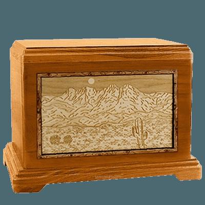 Four Peaks Mahogany Hampton Cremation Urn