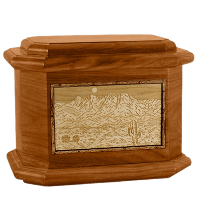 Four Peaks Mahogany Octagon Cremation Urn