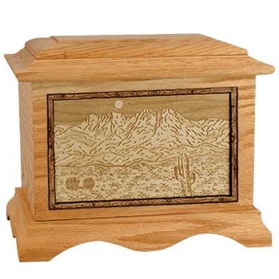 Four Peaks Oak Cremation Urn