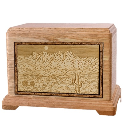 Four Peaks Oak Hampton Cremation Urn
