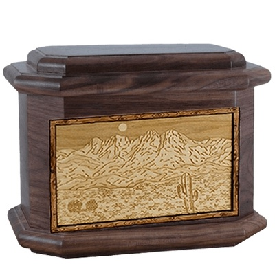 Four Peaks Walnut Octagon Cremation Urn