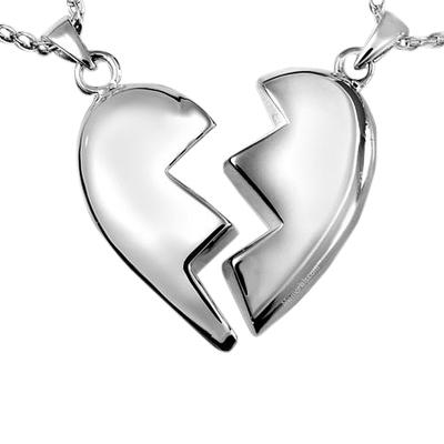 Fractured Heart Cremation Pendant III