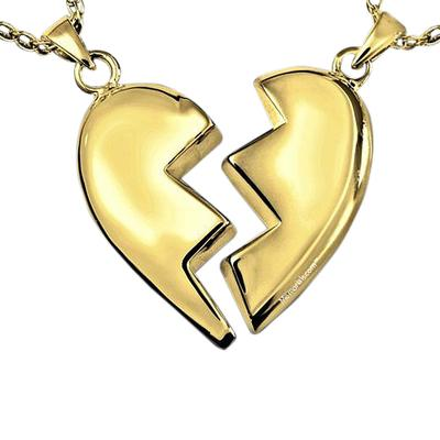 Fractured Heart Cremation Pendant IV