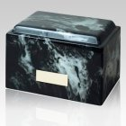 Classic Ink Black Marble Cremation Urn