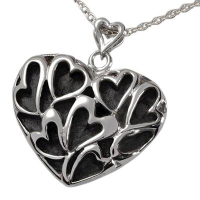 Full Heart Cremation Pendant