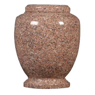 Pink Traditional Granite Cremation Urn