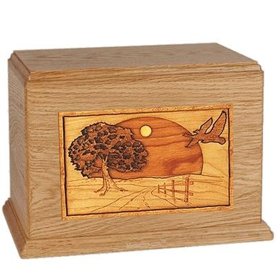 Geese Oak Companion Urn