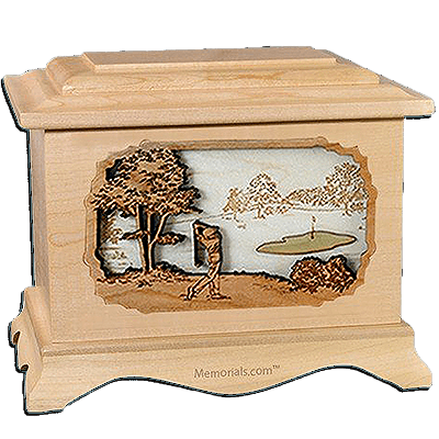 Golf Maple Cremation Urn for Two