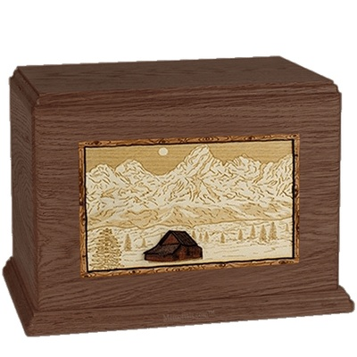 Grand Tetons Walnut Companion Urn