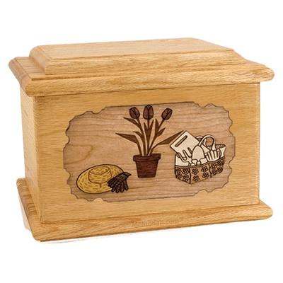 Gardening Oak Memory Chest Cremation Urn