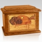 Geese Mahogany Memory Chest Cremation Urn