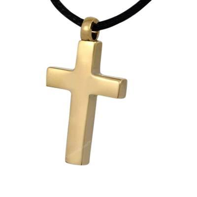 Gilded Cross Cremation Pendant