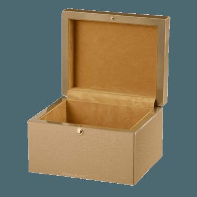 Gilded Wood Cremation Urn