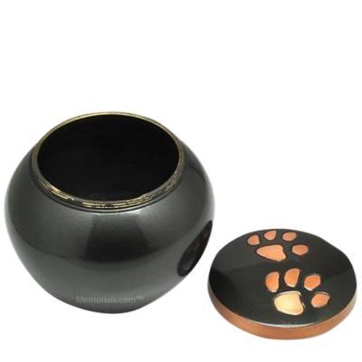 Glossy Paw Print Medium Urn