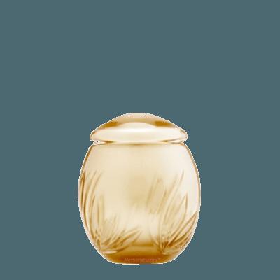Gold Bloom Glass Keepsake Cremation Urn