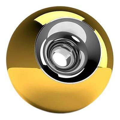 Gold Chrome Sphere Pet Urn