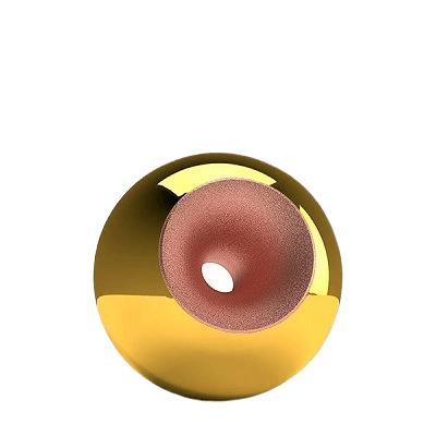 Gold Copper Splice Orb Small Urn