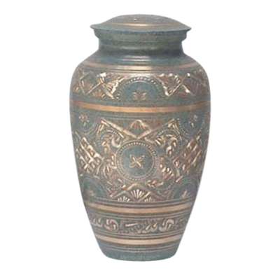 Golden Green Waters Cremation Urn