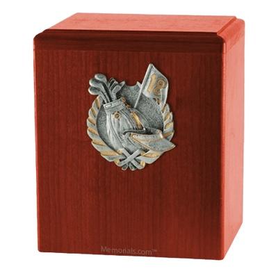 Golf Fan Cherry Cremation Urn