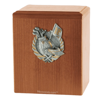 Golf Fan Light Cherry Cremation Urn